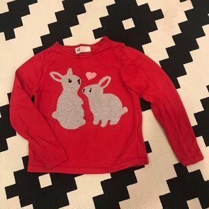 H&M 2-4Y Bunny Love Sparkle Sweater